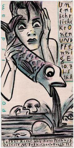 """Wolf-Dieter Pfennig: Plakat """"Unentbehrliche Kronen und Pfennige"""" von Wolf-Dieter Pfennig bei artflakes.com als Poster oder Kunstdruck $18.03"""