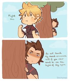 Protect the child. Ventus and Terra.  Credits to the artist