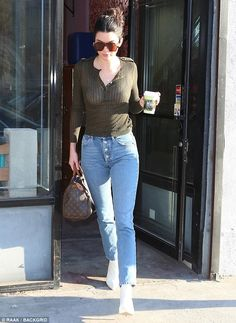 Coffee run: On Wednesday, Kendall Jenner was spotted getting her caffeine fix while leaving a local coffee shop in Downtown Los Angeles