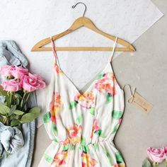 Thunderstruck Boho Romper. Floral details adorn this affordable bohemian romper from www.spool72.com