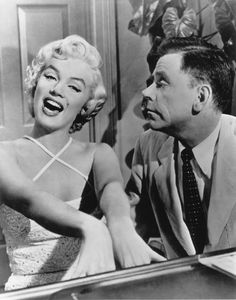 "MArilyn Monroe & Tom Ewell in ""The Seven Year Itch"" release date June 3,1955 premier date June 1, 1955 Marilyn's 29th birthday"