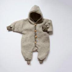 Merino wool fleece snuggle suit - Latte - 0-3m