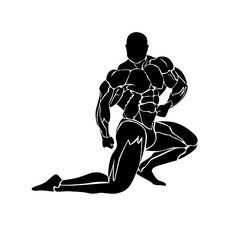 bodybuilding icon, muscles, vector by Sunshine on Gym Icon, Bodybuilding Logo, Muscle Magazine, Gym Interior, Gym Motivation Quotes, Sport Icon, Figure Drawing Reference, Gym Design, Motivational Pictures