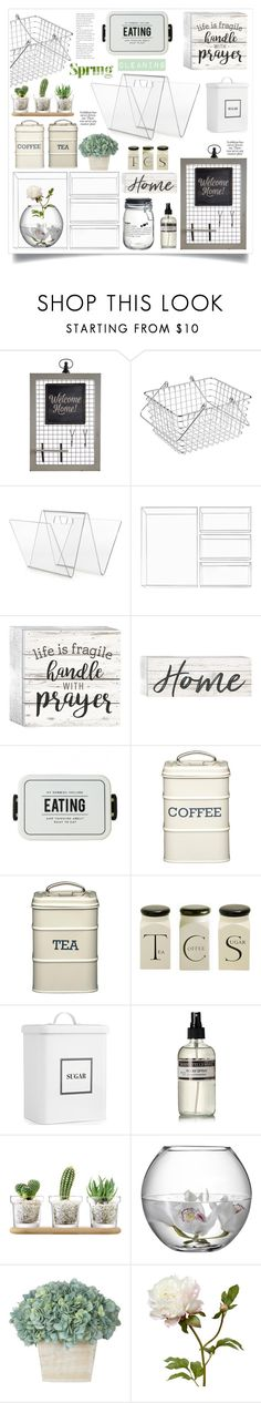 """""""We Clean Up Good: Spring Cleaning"""" by ewa-naukowicz ❤ liked on Polyvore featuring interior, interiors, interior design, home, home decor, interior decorating, Pier 1 Imports, InterDesign, P. Graham Dunn and Martha Stewart"""