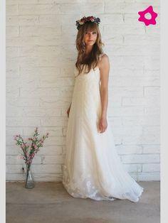 Vestidos boho para novias 2012