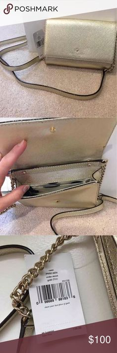 Kate Spade Cami Crossbody Brand new with tags Cami Crossbody by Kate Spade in Metallic Gold. Retail price $148. Last photo is a stock photo for refererence. kate spade Bags Crossbody Bags