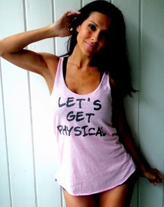 LET'S GET PHYSICAL Eco Heather Racerback Tank