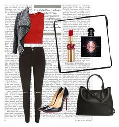 A fashion look from August 2015 featuring zip crop top, pu jacket and torn pants. Browse and shop related looks. Bite Lipstick, Alice Olivia, River Island, Polyvore Fashion, Yves Saint Laurent, Prada, Christian Louboutin, Shoe Bag, Stuff To Buy