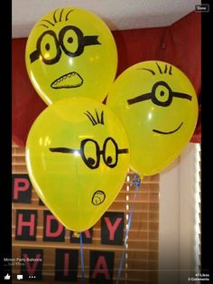 Minions. Cute idea for Isabella's first birthday party maybe