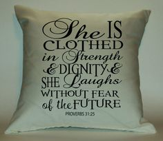 She is Clothed in Strength and Dignity by PillowTalkandMoreSTL, $29.99