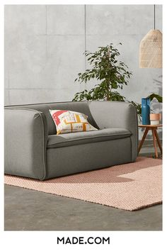 Elevate your living room with Berko, the sofa that combines cool, minimal styling with maximum comfort. The clean lines and curved silhouette give Berko an inviting Scandi-appeal. We love the thick piping and pleated details that give this sofa an ultra-luxe feel. White Wooden Floor, Sofa, Love Seat, Scandinavian Interior Design, 2 Seater Sofa, Pale Wood, Interior Design, Home Decor, Room