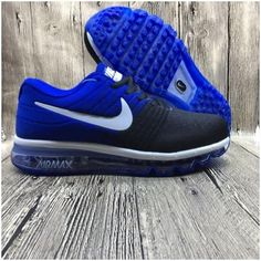 huge selection of 068a5 c5770 Nike Flyknit Max 2017 Mens running shoes Black sapphire blue Black Sports  Shoes, Nike Air