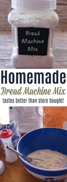Homemade Bread Machine Bread Recipe One batch of bread from this homemade mix and you'll never buy store bought again! Bread Machine Mixes, Bread Machine Cinnamon Rolls, Easy Bread Machine Recipes, Best Bread Machine, Bread Maker Recipes, Healthy Bread Recipes, Baking Recipes, Bread Machines, Cinnamon Bread