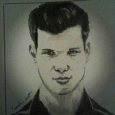 Lautner's portrait. Graphite pencils.
