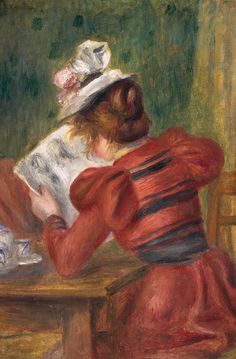 Young Girl Reading (1897).Pierre-Auguste Renoir (French, 1841-1919).