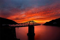 'The bridges to sunset have collapsed' by Hercules Milas The Republic, Sunrises, Hercules, Golden Hour, Athens, Travel Mug, Travel Destinations, Greece, Bridge