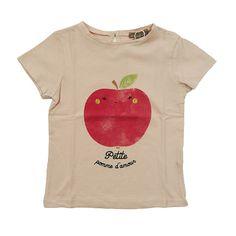 Emile et Ida t-shirt roze 'Rose Pale Pomme'