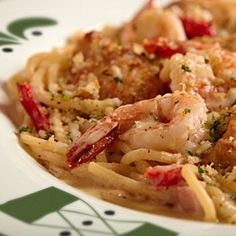 Olive Garden Chicken and Shrimp Carbonara.  So bad for you, but oh, so tasty!  Gotta do it once in a while.
