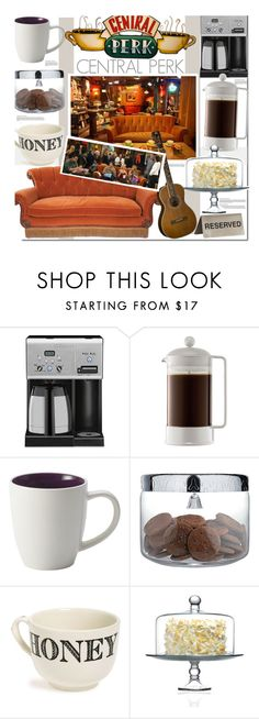 """Central Perk"" by kusja ❤ liked on Polyvore featuring interior, interiors, interior design, home, home decor, interior decorating, Cuisinart, Bodum, Coffee Shop and Alessi"