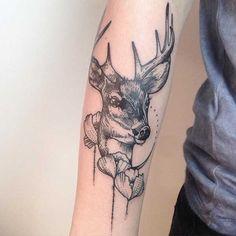 geyik kafası dövme