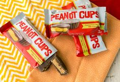 "These pea ""not"" butter cups taste and look like peanut butter cups, but they are peanut and tree nut free. Made with Wowbutter®-based filling in Milkless Vegan chocolate, these large chocolate PB cups are a great alternative to peanut butter-based cups, and contain no milk, peanuts, or tree nuts. Contains SOY."