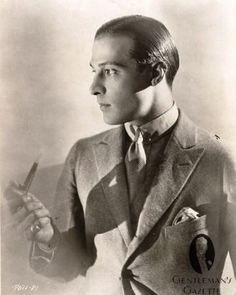 - Hollywood Actor Rudolph Valentino (Italian, Castellaneta, Manhattan, NY) with Slick Back Pomade Hair Style Hollywood Men, Vintage Hollywood, Hollywood Glamour, Hollywood Stars, Classic Hollywood, Hollywood Icons, Rudolph Valentino, Silent Film Stars, Movie Stars
