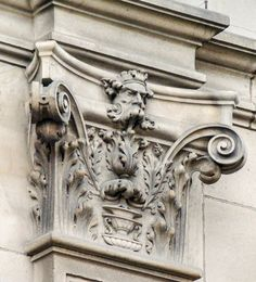 Face and filigree on the Edinburgh Central Library