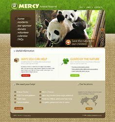 Lovely Animal Reserve Web Design Layout. #animalreserve #webdesign #panda