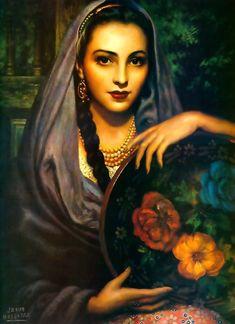 Michoacana, by legendary Mexican painter, Jesús Helguera