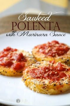 Love good-for-you recipes like sauteed polenta with marinara sauce? Be sure to check out my other Weight Watchers-friendly Recipes! I love shopping at Trader Joe's, especially when they have delicious samples for me to try. I've been surprised, actually, to find several of... #food #lunch #recipes