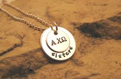 Alpha Chi Omega  Sisters  Sorority Silver Charm  by JessicasGifts