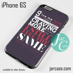 Ed Sheeran Song Lyrics Phone case for iPhone 6/6S/6 Plus/6S plus