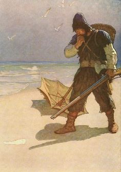 N. C. Wyeth illustration for Robinson Crusoe