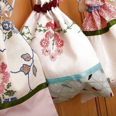 bags from old tablecloths