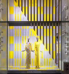 Daniel Buren window display for Louis Vuitton
