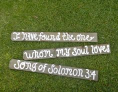 Song of Solomon 3:4, Wedding Sign, Rustic Theme, Bible Verse, Wedding Bible Verse, Photo Prop, Painted, Decoration, Outdoor on Etsy, $135.00