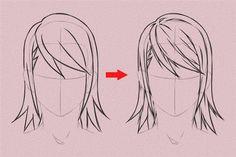 aprender a dibujar cabello anime y manga 5