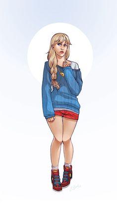 Hipster Supergirl