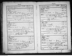 Regency Marriage ~ Licenses & Banns Part 2  (image of 1818 parish register)