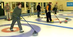 A great place to curl during a vacation. When I was there, they had a Canadian icemaker: Naseby Indoor Curling Rink, Maniototo, New Zealand