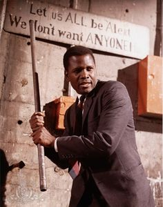 "Sidney Poitier in ""In the Heat of the Night"" (1967)"