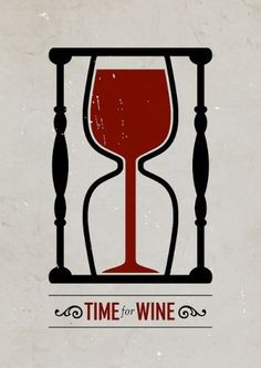 'Time for Wine' Poster by Viktor Hertz