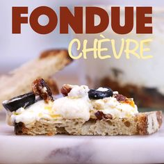 Tartine with goat cheese fondue - Trend Appetizer Fine Dining 2019 Easy Cake Recipes, Dessert Recipes, Desserts, Healthy Recipes, Vegetarian Appetizers, Appetizer Recipes, Dinner Recipes, Clean Eating Snacks, Food And Drink