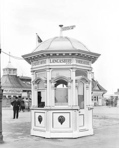 Railway enquiry kiosk Southport 1911 Kiosk Design, Booth Design, Portugal, Guard House, Coffee Stands, Southport, Store Fronts, Liverpool, Gazebo