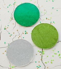 DIY Drink Coasters | Glitter Coasters | Confetti Pop