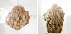 Sprawling Cardboard Architecture by Nina Lindgren Good inspiration for doing a lesson on cityscapes