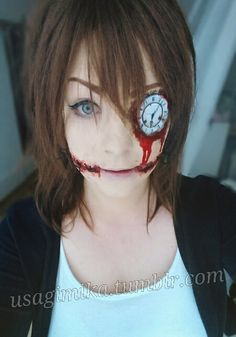 CLockwork creepypasta cosplay makeup diy how to