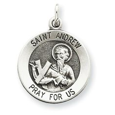 Sterling Silver Antiqued Saint Andrew Medal Real Goldia Designer Perfect Jewelry Gift goldia. $14.92