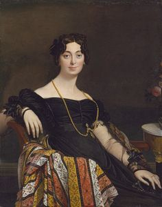 Madame Jacques-Louis Leblanc (née Françoise Poncelle, 1788–1839), 1823  Jean-Auguste-Dominique Ingres (French, 1780–1867)  Oil on canvas    47 x 36 1/2 in. (119.4 x 92.7 cm)  Signed, dated, and inscribed (lower left): Ingres P. flor. 1823.  Catharine Lorillard Wolfe Collection, Wolfe Fund, 1918 (19.77.2)