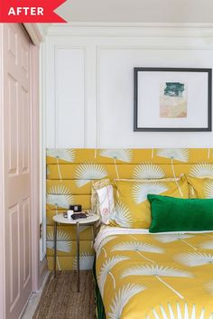When it came to redesigning her teen daughter's space, blogger and interior stylist Jewel Marlowe's work was cut out for her. The cramped area lacked storage and character: Beige walls, dated wall-to-wall carpeting, and mahogany dark furnishings were pretty much all it had. A color-charged makeover was what it needed, especially since there were no windows—or natural light—in this basement room. First things first, the bed had to go. Cozy Basement, Basement Layout, Basement Bedrooms, Basement Finishing, Cozy Living Rooms, Living Room Grey, Apartment Living, Apartment Therapy, Teenage Girl Bedrooms